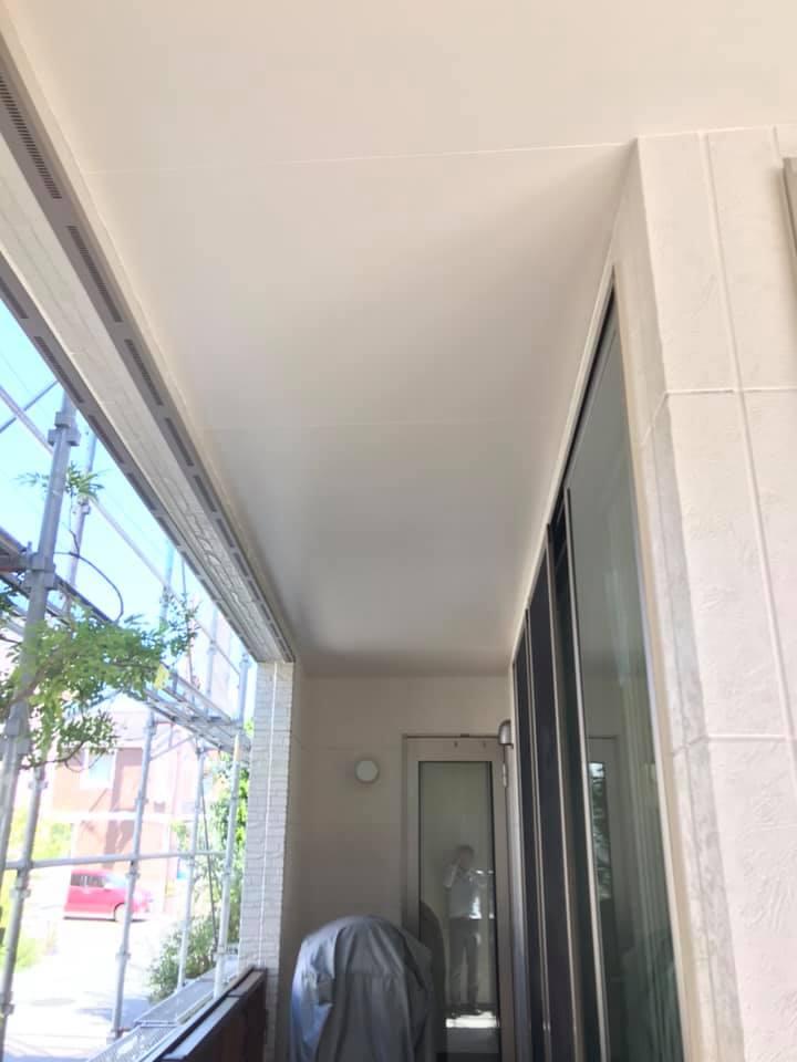 外壁塗装後の付帯部トイもきれいな仕上がりです。