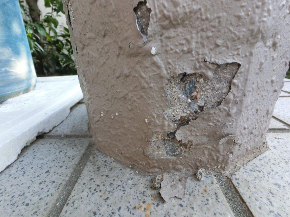 傷み破損、修理が必要な箇所です。