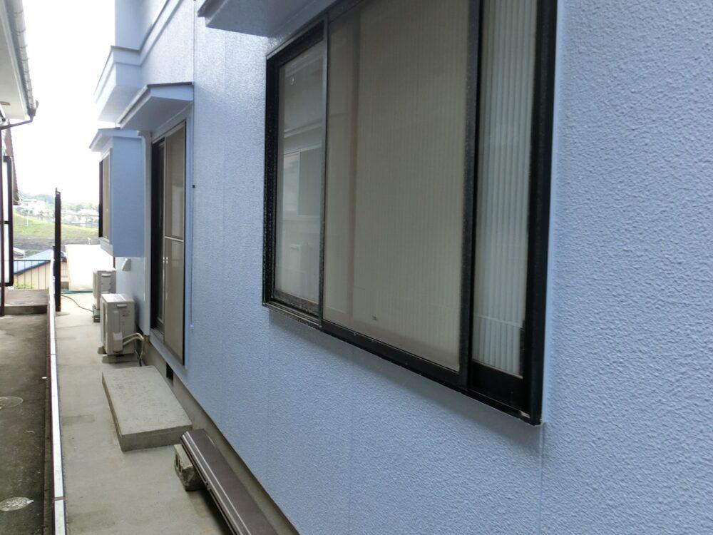 外壁の写真です。塗装後はこのようにピカピカとなります。